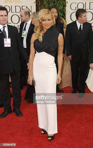 Pamela Anderson during The 63rd Annual Golden Globe Awards Arrivals at Beverly Hilton Hotel in Beverly Hills California United States