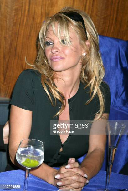 Pamela Anderson during Valentino Fragrance Launch Party For Valentino V at Four Seasons in New York City New York United States