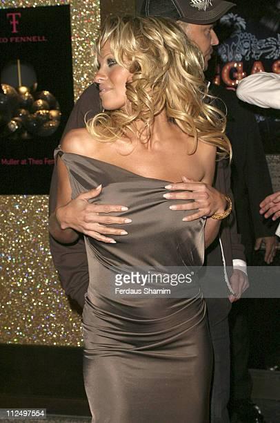Pamela Anderson during Vegas Supernova Selfridges Launch Party at Selfridges in London Great Britain