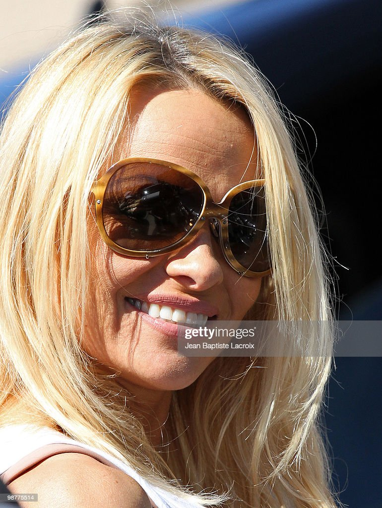 COVERAGE** Pamela Anderson is seen leaving a dance studio on April 30, 2010 in Los Angeles, California.