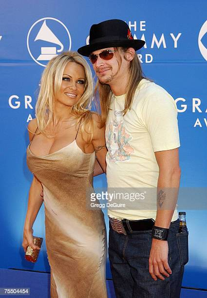 Pamela Anderson Kid Rock at the Staples Center in Los Angeles California