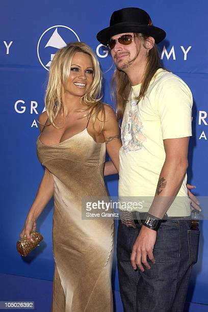 Pamela Anderson Kid Rock during 44th GRAMMY Awards Arrivals at Staples Center in Los Angeles California United States