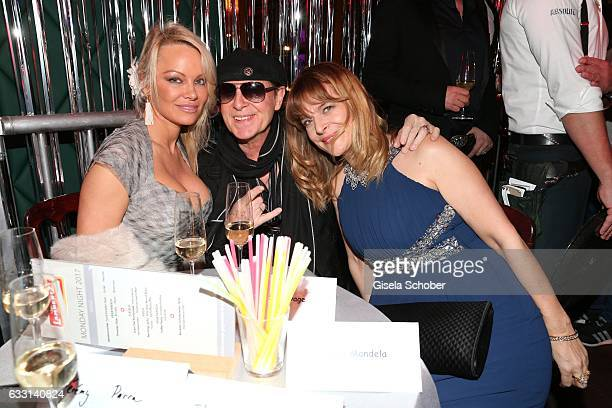 Pamela Anderson Klaus Meine singer of 'Scorpions' and Nastassja Kinski during the Lambertz Monday Night 2017 at Alter Wartesaal on January 30 2017 in...