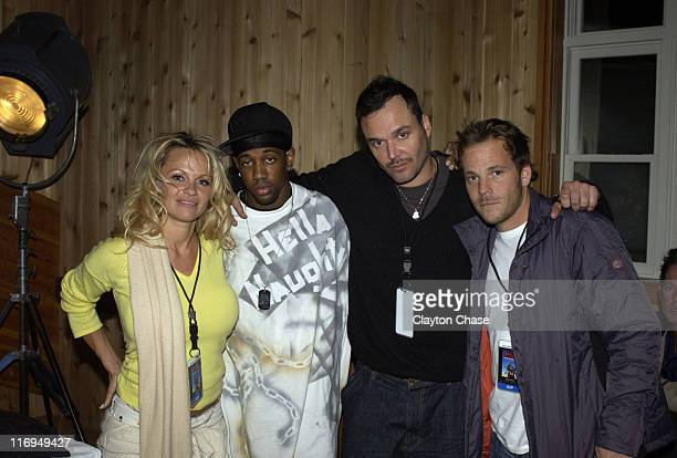 Pamela Anderson Lil C David LaChapelle director of 'Rize' and Stephen Dorff