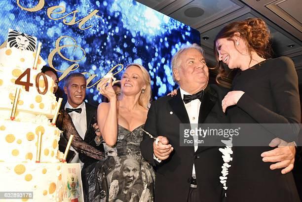 Pamela Anderson Massimo Gargia and Lola KarimovaTillyaeva attend 'The Best Award Gala 40th Edition' at Four Seasons George V Hotel on JanÊMassimo...