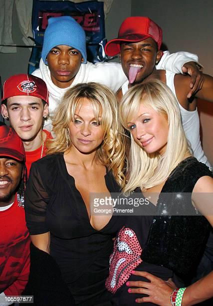 """Pamela Anderson, Paris Hilton and the cast of """"Rize"""""""
