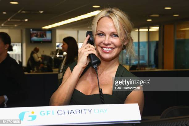Pamela Anderson participates in the Annual Charity Day hosted by Cantor Fitzgerald BGC and GFI at GFI Securities on September 11 2017 in New York City