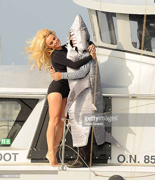 Pamela Anderson poses at the Sea Shepherd's Operation Zero Tolerance Antarctic Whale Defense Campaign Press Conference Launch With Pamela Anderson at...