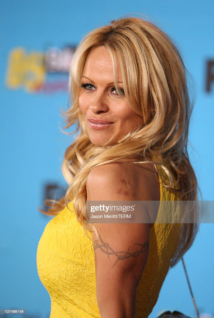 Pamela Anderson, presenter during 2005 Billboard Music Awards - Arrivals at MGM Grand in Las Vegas, Nevada, United States.