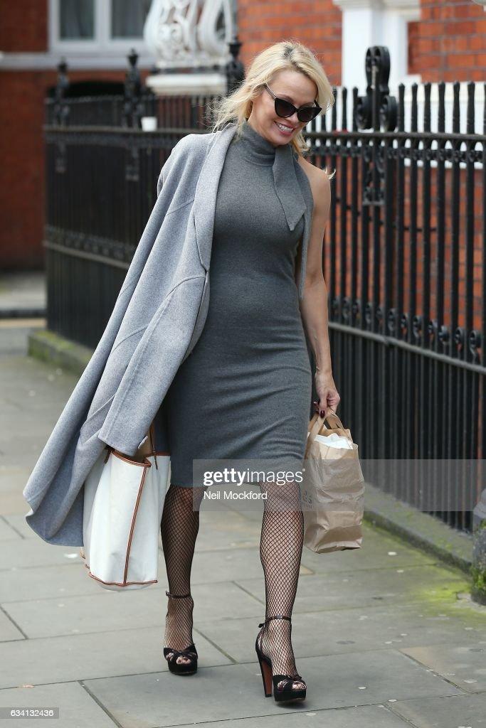 Pamela Anderson London Sightings -  February 07, 2017 : News Photo
