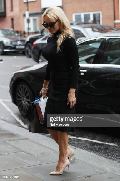 Pamela Anderson seen at the Ecuadorian Embassy visiting her friend Julian Assange on October 26 2017 in London England