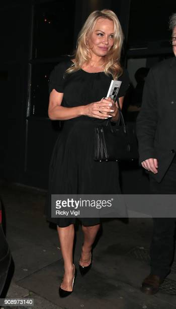 Pamela Anderson seen at Women Whistleblowing WikiLeaks book launch /talk held at The Frontline Club on January 22 2018 in London England