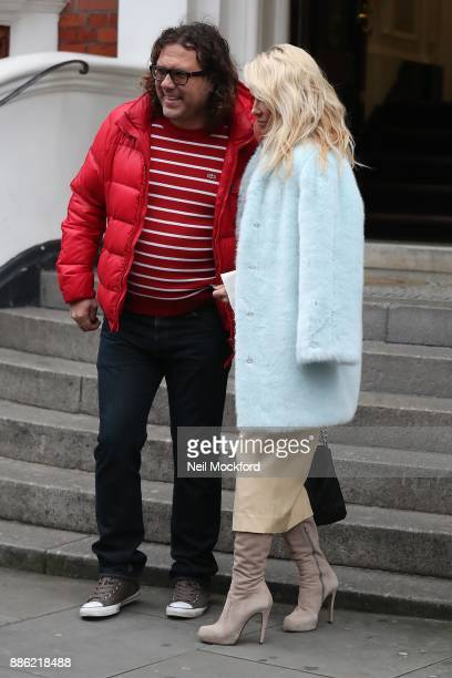 Pamela Anderson seen leaving the Ecuadorian Embassy after visiting her friend Julian Assange on December 5 2017 in London England