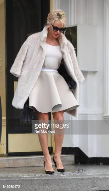 PHOTOS* Pamela Anderson seen visiting her friend Julian Assange at the Ecuadorian Embassy on September 19 2017 in London England