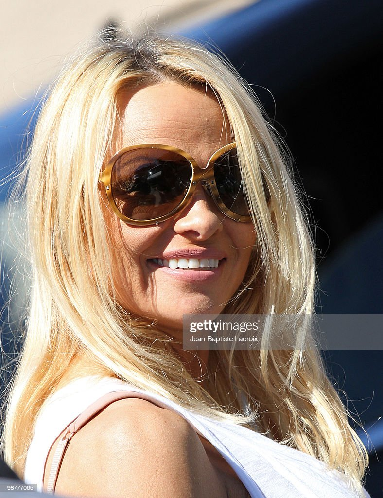 COVERAGE** Pamela Anderson sighted leaving a dance studio on April 30, 2010 in Los Angeles, California.
