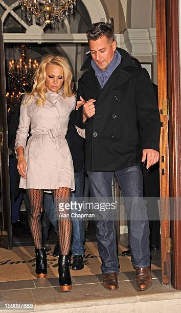 Pamela Anderson sighting on January 7, 2013 in London, England.
