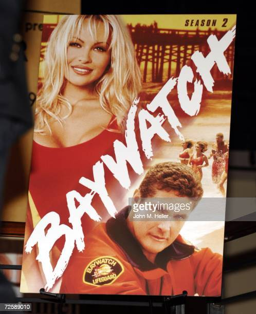 Pamela Anderson signs copies of 'Baywatch' DVD Seasons 1 2 at the Virgin Mega Store at Hollywood Highland on November 16 2006 in Hollywood California