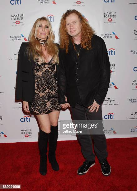 Pamela Anne Casselberry and musician Dave Mustaine arrive at the Universal Music Group's 2017 GRAMMY After Party at The Theatre at Ace Hotel on...
