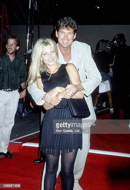 Pamela Bach and David Hasselhoff during Benefit Opening of The Who's 'Tommy' July 15 1994 at Universal Ampitheater in Universal City California...