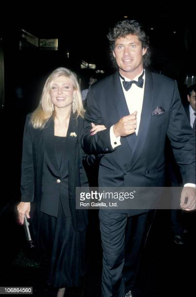 Pamela Bach and David Hasselhoff during Dinner Dance Honoring Helen Gurley Brown's 25th Anniversary as Editor of Cosmopolitan Magazine at Rainbow...