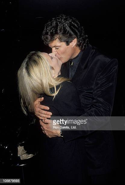 Pamela Bach and David Hasselhoff during Screening of Baywatch Productions' 'Shattered' at Academy Theater in Hollywood California United States