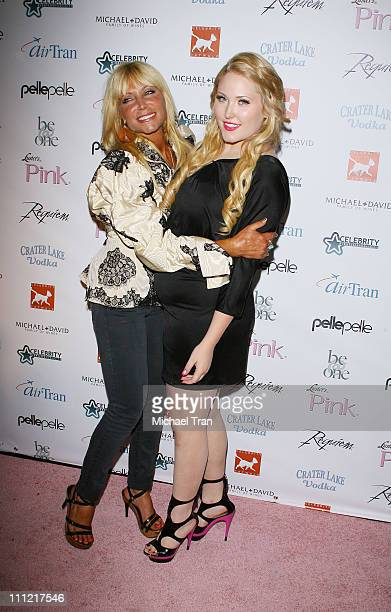 Pamela BachHasselhoff and Hayley Hasselhoff arrive to the 9th Annual Celebrity Catwalk Fashion Show held at The Highlands Club in the Hollywood...