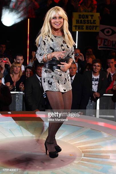 Pamela BachHasselhoff is evicted from the Celebrity Big Brother House at Elstree Studios on August 31 2011 in Borehamwood England