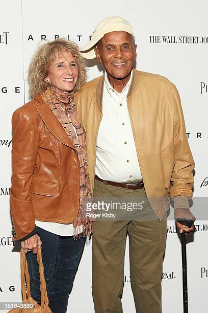 Pamela Belafonte and Harry Belafonte attends the Arbitrage New York Premiere at Walter Reade Theater on September 12 2012 in New York City