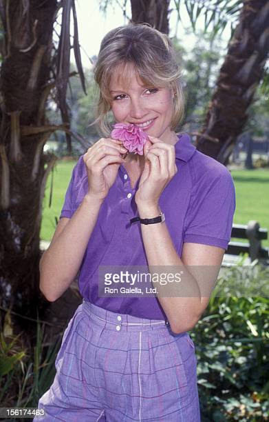 Pamela Bowen attend an exclusive photo session on August 13 1984 at a park in Beverly Hills California