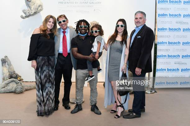 Pamela Cohen Joe Namath Edwin Baker Olivia Namath and Nick Korniloff attend the Palm Beach Modern Contemporary VIP Opening Preview Presented By Art...