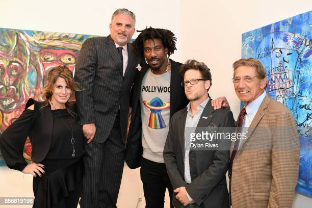 Pamela Cohen Nick Korniloff Amar'e Stoudemire Jason Newsted and Joe Namath attend the Art Miami CONTEXT 2017 at Art Miami Pavilion on December 5 2017...