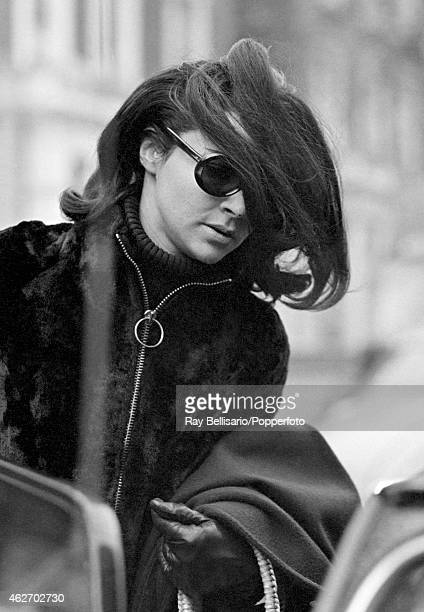 Pamela Colin later the wife of the Earl of Harlech and editor of Vogue magazine outside her home in Bolton Gardens Chelsea London on 18th November...
