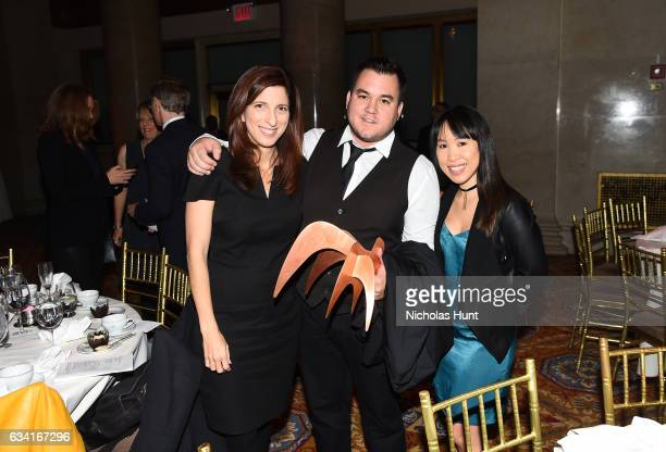 Pamela Colloff Nicholas Jackson and Taylor Lee attend Ellie Awards 2017 at Cipriani Wall Street on February 7 2017 in New York City