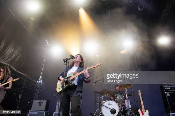 September 18: Pamela Connolly of Pillow Queens performs live on stage during day 2 of Pure & Crafted Festival in Berlin on September 18, 2021 in...