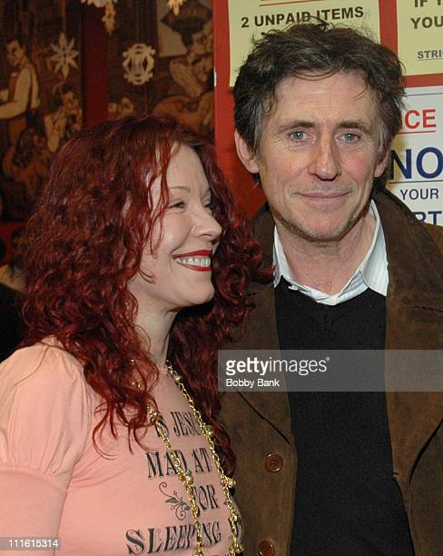 Pamela Des Barres and Gabriel Byrne during Pamela Des Barres Book Signing of 'I'm With the Band Confessions of A Groupie' With Celebrity Guest...