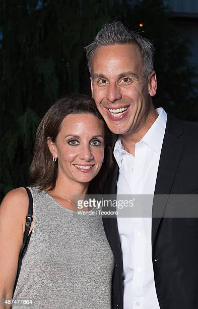 Pamela Drucker Mann and Adam Rapoport attend the Rachel Comey show at Pioneer Works on September 9 2015 in the Brooklyn borough of New York City