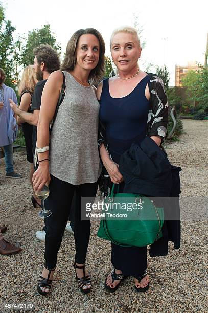 Pamela Drucker Mann and singer Debbie Harry attend the Rachel Comey show at Pioneer Works on September 9 2015 in the Brooklyn borough of New York City