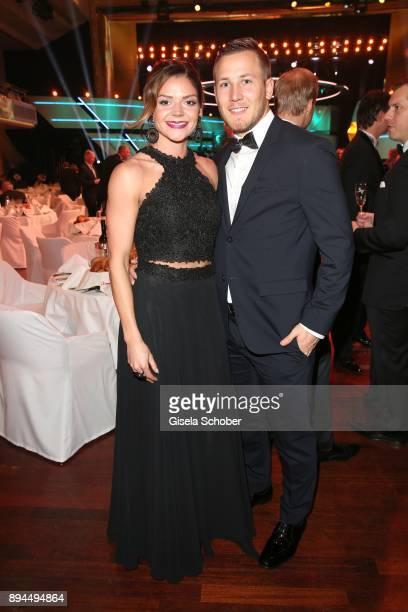 Pamela Dutkiewicz and her boyfriend Mike Emmerich during the 'Sportler des Jahres 2017' Gala at Kurhaus BadenBaden on December 17 2017 in BadenBaden...