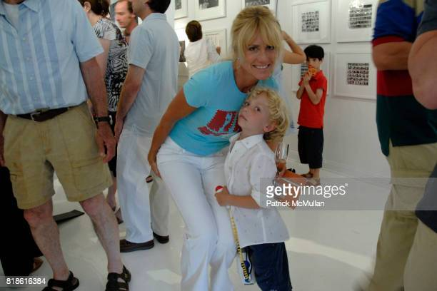 Pamela Eldridge and Benjamin Zazula attend Opening Exhibiton Warhol From Dylan to Duchamp at Eric Firestone Gallery on June 5 2010 in East Hampton...