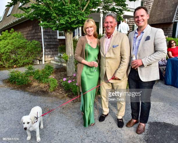 Pamela Eldridge Brian P Brady and Pat Brady attend ARF Thrift Shop Designer Show House Sale at ARF Thrift Treasure Shop on May 26 2018 in Sagaponack...
