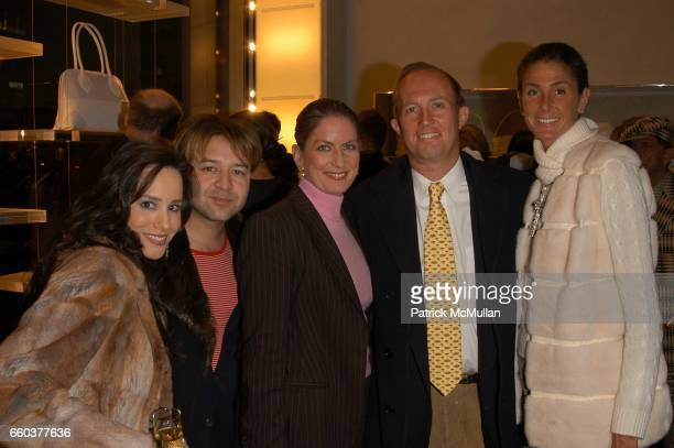 Pamela Fielder Alvin Valley Felicia Taylor Mark Gilbertson and Somers Farkas attend Furla New York Flagship store opening at Furla on February 11...