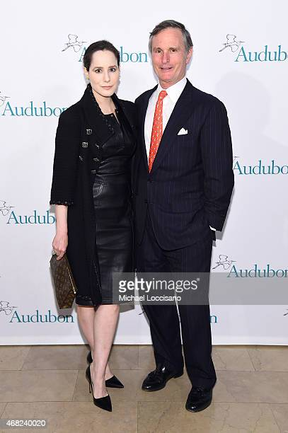 Pamela Fielder and Chair of the Board of National Audubon Society David B Ford attend The 2015 National Audubon Society Gala Dinner at The Plaza...