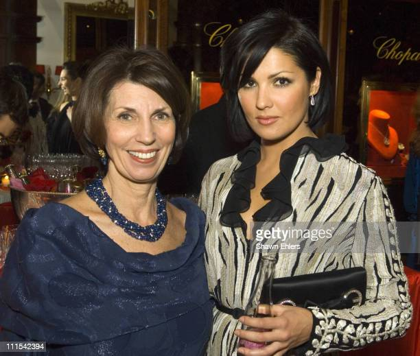Pamela Fiori and Anna Netrebko during Chopard Boutique Hosts Event with Anna Netrebko at Chopard Boutique in New York City New York United States