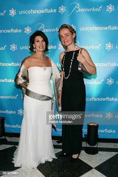 Pamela Fiori and AnneClaire Taittinger attend Baccarat Presents the 2nd Annual UNICEF SNOWFLAKE BALL at WaldorfAstoria Hotel on November 28 2005 in...