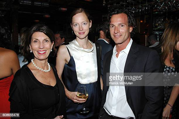 Pamela Fiori Anne Christensen and George Kolasa attend Roberta Armani Hosts Dinner to honor Roberto Bolle at Inn at Little West 12th St on June 18...