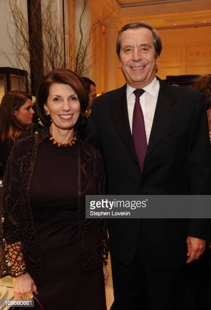 Pamela Fiori EditorinChief of Town and Country and Henri Barguirdjian CEO of Graff