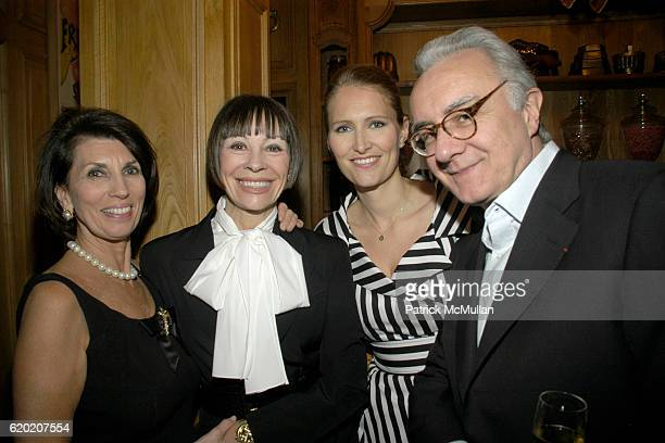 Pamela Fiori Maggie Lacose Gwenaelle Gueguen and Alain Ducasse attend Benoit Opening Party Hosted by Pamela Fiori and Alain Ducasse at Benoit...