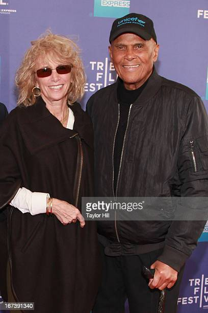Pamela Frank and Harry Belafonte attend the screening of Battle of amfAR Beyond The Screens The Artist's Angle during the 2013 Tribeca Film Festival...