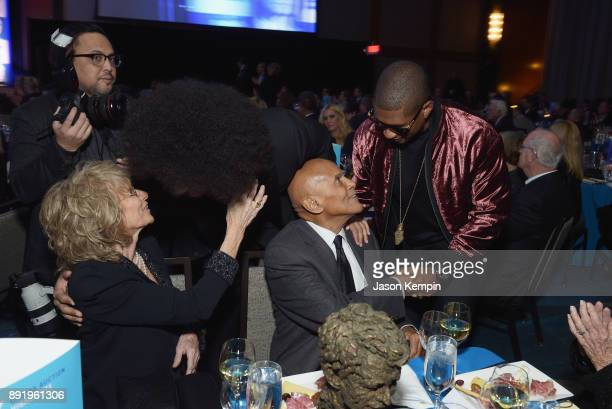 Pamela Frank Colin Kaepernick Harry Belafonte and Usher Raymond attend Robert F Kennedy Human Rights Hosts Annual Ripple Of Hope Awards Dinner on...
