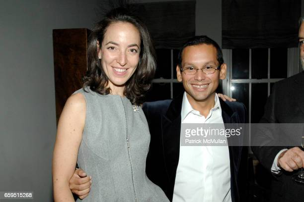Pamela Golbin and Santiago Barberi Gonzalez attend Santiago Barberi Gonzalez hosts intimate dinner for Pamela Golbin to celebrate the launch of her...